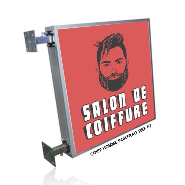 Coiffeur Barber Shop Caisson Lumineux Double Face Coiffure Homme