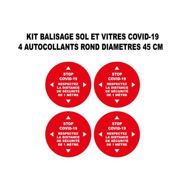 covid-19 rond autocollant 45 cm de diametres shop enseigne production marseille 13001 (3)