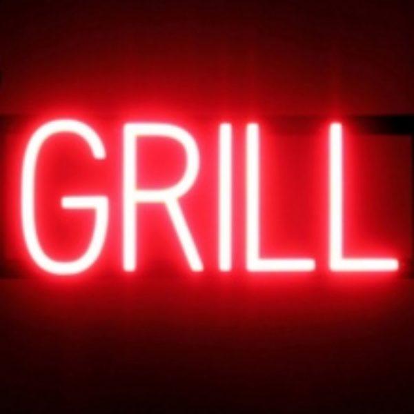 Grill néon ultra brillant led by Shop enseigne production Marseille 13001